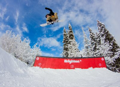 Andy Chammarow 3rd place mens open snow 360 melon grab. Photo: CJ Anderson