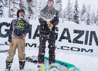 Makalu Arnold celebrated his win with champagne. Photo: Jo Savage // @SavageDangerWolf
