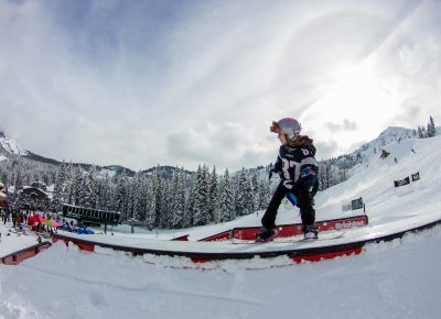 Mattie Neves 1st place 17 & under womens snow 50-50. Photo: CJ Anderson
