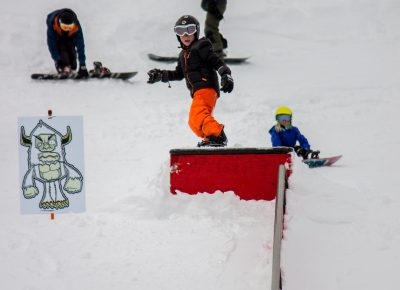 Ashton Davis 3rd place 17 & under mens snow 50-50. Photo: CJAnderson