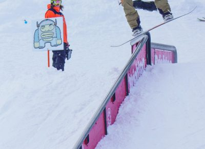 Andy Chammarow, Men's Open Snow 3rd place, Boardslide. Photo: Chris Keirnan