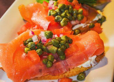 Salmon Lox Crostini. Photo: Talyn Sherer