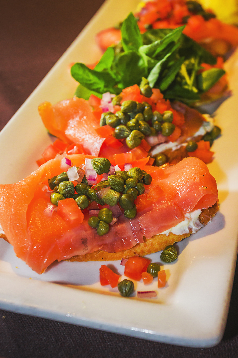 Salmon Lox Crostini. Photo: Talyn Sherer