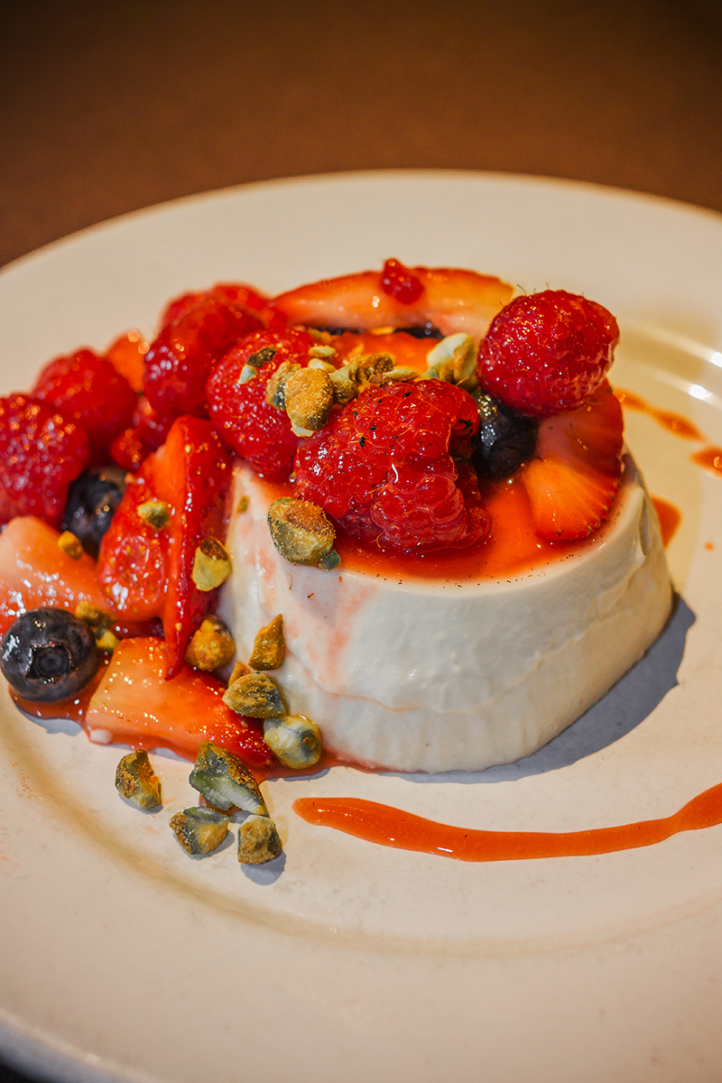 Lavender Infused Panna Cotta. Photo: Talyn Sherer