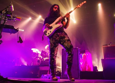 Payam Doostzadeh is known for his skilled bass playing through both a stringed instrument and an electronic bass machine. Photo: Talyn Sherer.