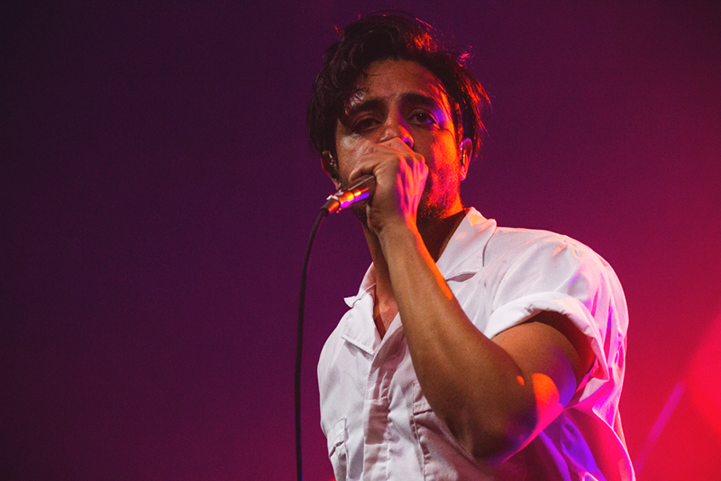 Sameer Gadhia of Young the Giant is in complete disarray after seeing the size of the crowd in Salt Lake City. Photo: Talyn Sherer.