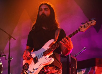 Don't let Payam Doostzadeh's stoic presence fool you, as his crunchy bass lines are far from being unflappable. Photo: Talyn Sherer.