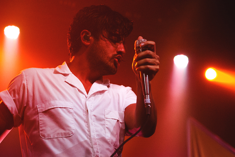 Sameer Gadhia of Young the Giant lets the soul of the music take over the soul of his body. Photo: Talyn Sherer.