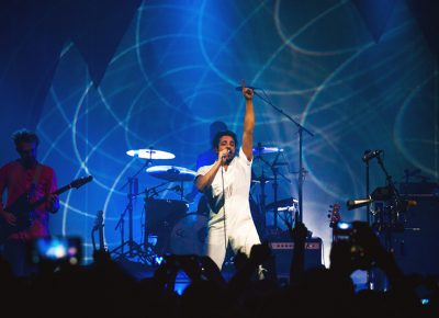 """The crowd erupts as Young the Giant performs """"Mind Over Matter."""" Photo: Talyn Sherer."""