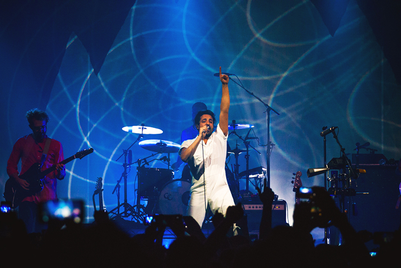 "The crowd erupts as Young the Giant performs ""Mind Over Matter."" Photo: Talyn Sherer."