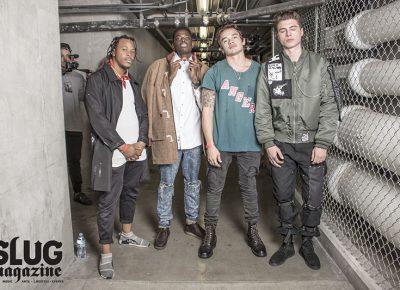 (L–R) Gaby Okito, Jeremie Mabanza, Brody Ashton, CJ Bode. Photo: Jake Vivori