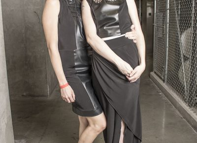 Designer Lisa Miller and model Amanda Dixon of Lip Stain and Legos. Photo: Jake Vivori
