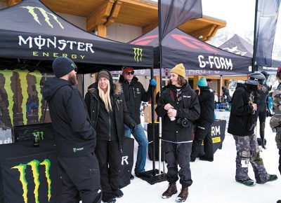 Spectators enjoying the show in front of the Monster Energy and G-From booths. Photo: Jo Savage // @SavageDangerWolf