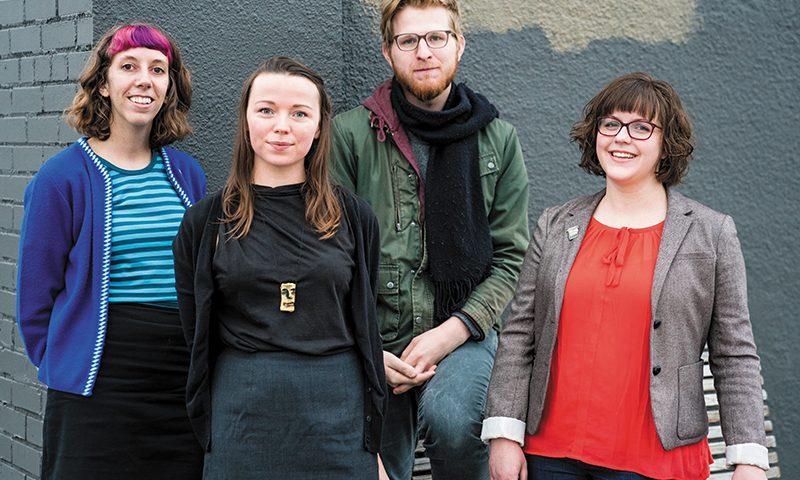(L–R) Juli Huddleston, Natalie Allsup-Edwards, Timothy Burton Guthrie and Bonnie Cooper of Grid Zine Fest.