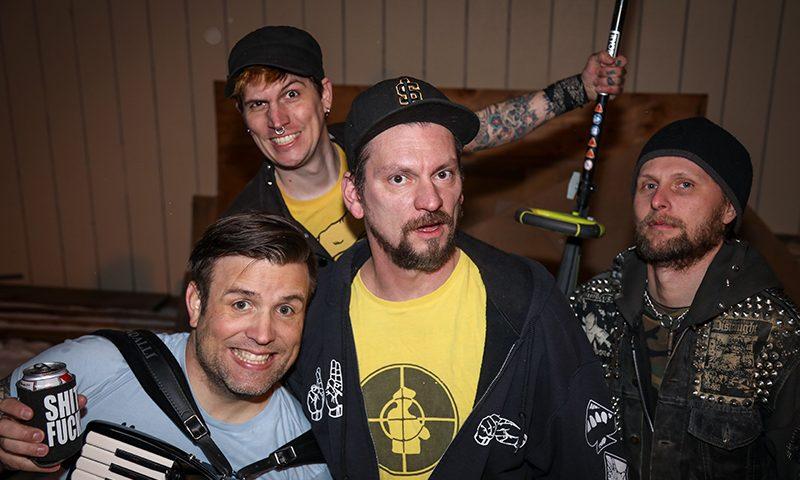 (L–R) Jesse Struggle, Dave Motiee, Skunk and Nate Wilson.