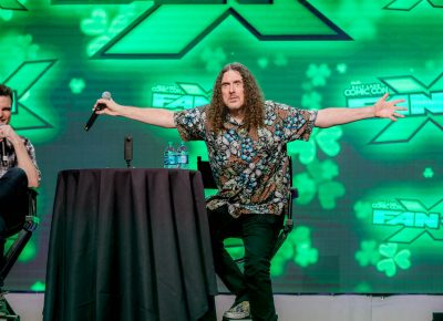 """Weird Al Yankovic declares, """"Look upon me!"""" after a fan tells him it is their first time seeing him in person. Photo: Lmsorenson.net"""