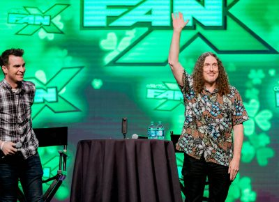 Weird Al Yankovic thanking Salt Lake City Comic Con! Photo: Lmsorenson.net