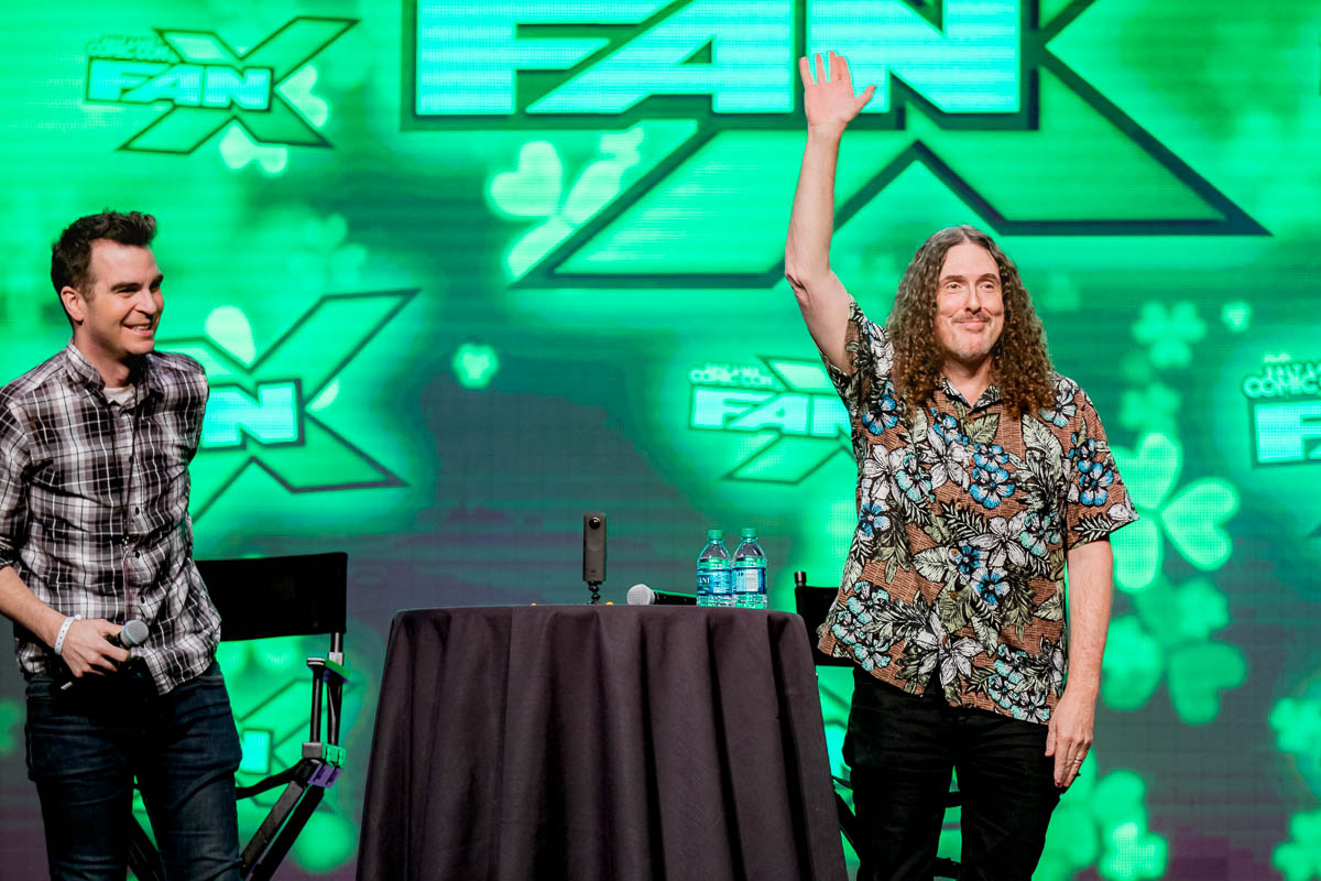 Weird Al Yankovic thanking Salt Lake City Comic Con! Photo: Lmsorenson.net