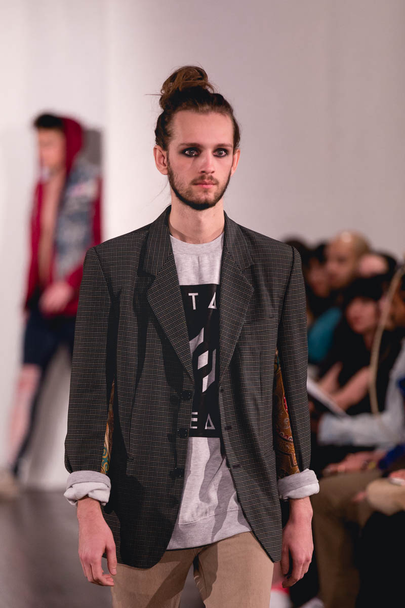 Street-inspired shirt and jacket from Utah Fashion Week. Photo: Lmsorenson.net
