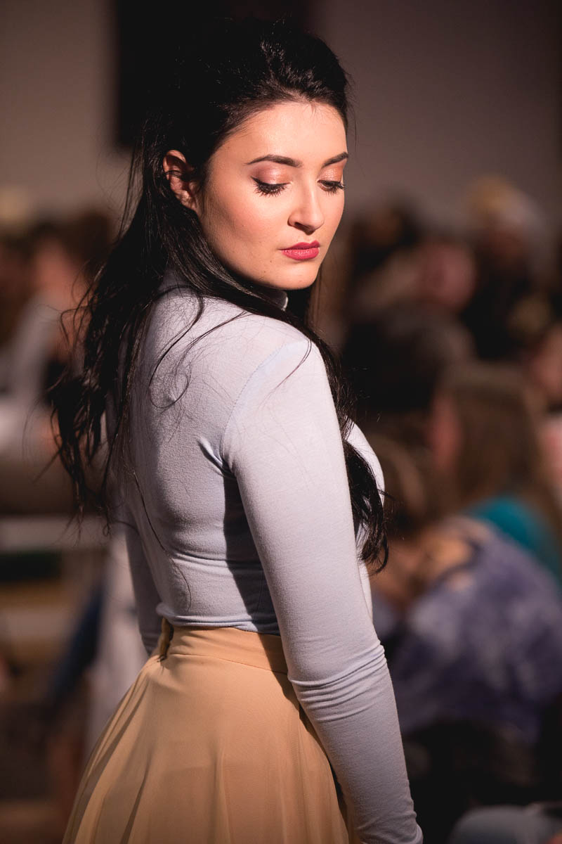 Nice long sleeve top with complementing tan skirt. Photo: Lmsorenson.net