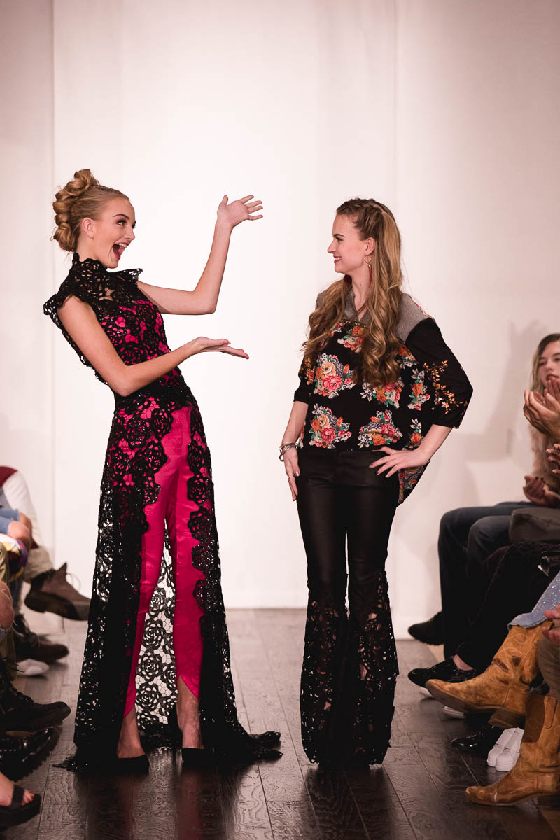 Young and talented designer Allie Lunt (R), at age 14, is already on her way with compelling fashion design. Photo: Lmsorenson.net