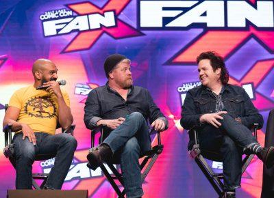 Michael Cudlitz, Josh McDermitt and Khary Payton discuss their favorite villains and deaths on The Walking Dead. Photo: Lmsorenson.net