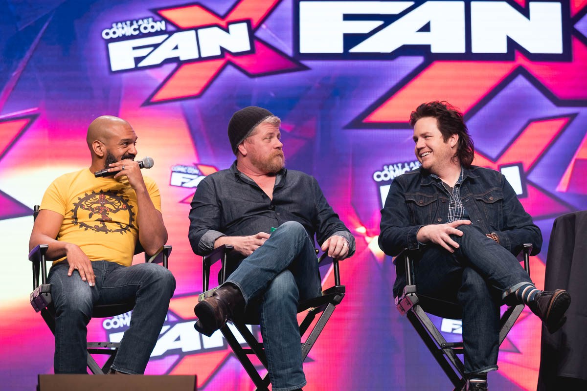 Michael Cudlitz, Josh McDermitt and Khary Payton discuss their favorite villains and deaths on The Walking Dead. Photo: Lmsorenson.net
