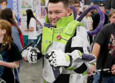 Cosplayer Tyler Russell as Buzz Lightyear. Photo: Lmsorenson.net