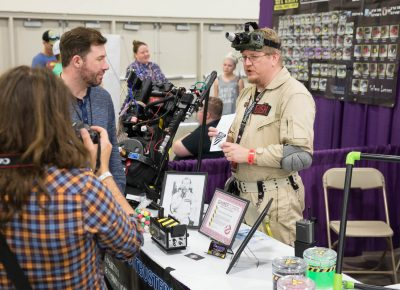 Ghostbusters of Salt Lake educate the public on the importance on proper ectoplasm storage and disposal. Photo: Lmsorenson.net