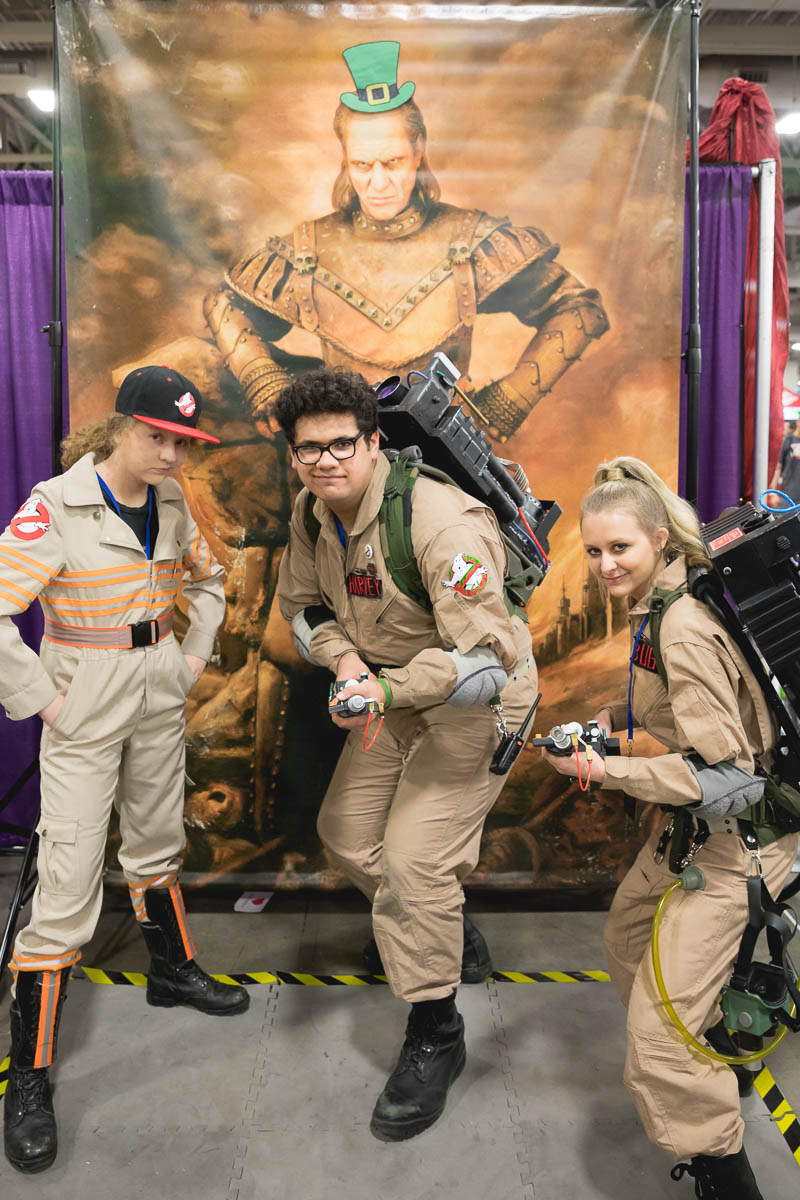 Ghostbusters of Salt Lake take on the challenge of posing in photos and the dark villain Viggo the Carpathian. Photo: Lmsorenson.net