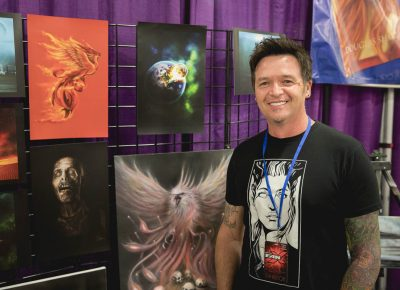 Artist Neil Ohmie uses such mediums as watercolor, oil, digital media and more to create his pieces. Photo: Lmsorenson.net