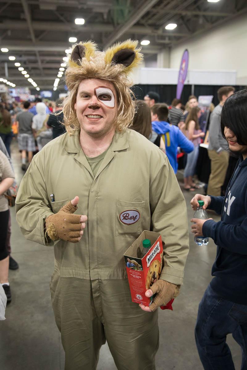Cosplayer Tyler Pierce as Barf from Spaceballs. Photo: Lmsorenson.net