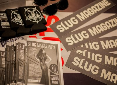 SLUG Mag team running the booth. Photo: CJ Anderson