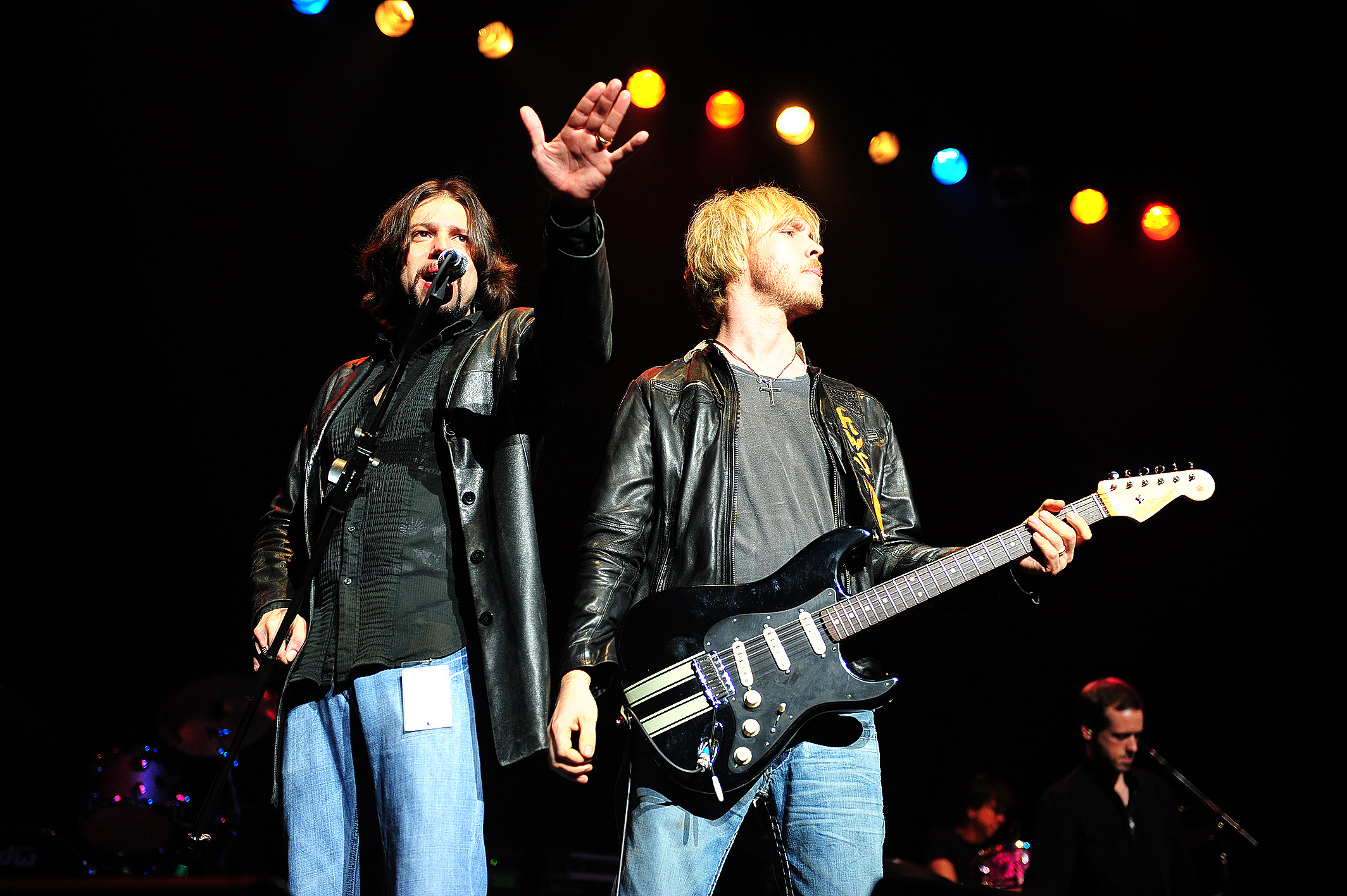 Noah Hunt and Kenny Wayne Shepherd of the Kenny Wayne Shepherd band are photographed during their performances on the 2008 Experience Hendrix Tribute Tour in Seattle, WA. Photo: Steven C. Pesant
