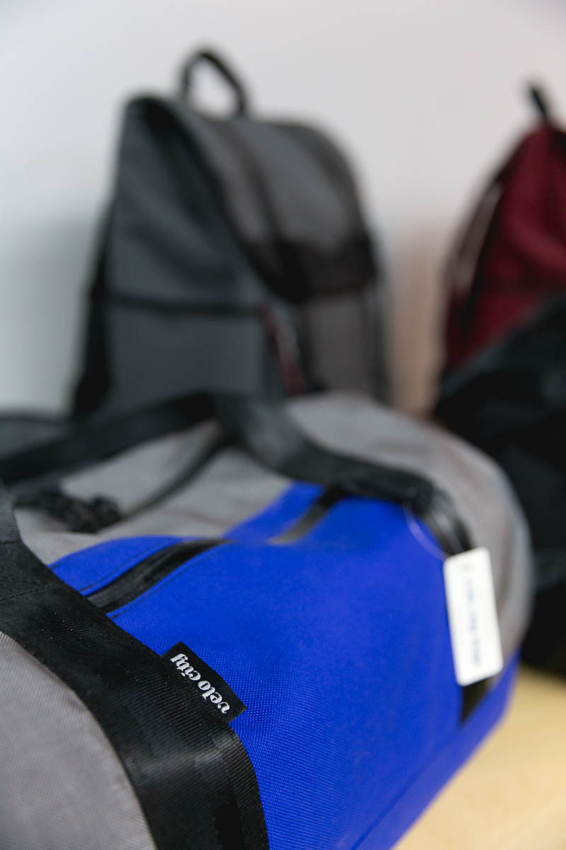 Veo City duffel bags available for purchase. Photo: Lmsorenson.net