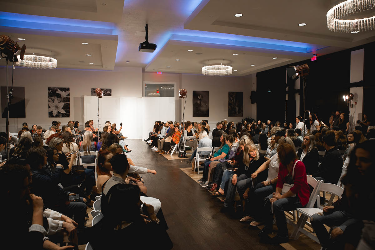 The crowd takes their seats for this Utah Fashion Week event. Photo: Lmsorenson.net
