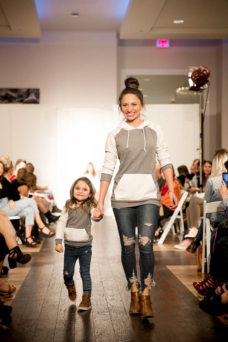Matching model duo make their way down the runway. Photo: Lmsorenson.net
