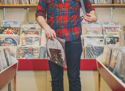 """""""My clothing style is probably certainly influenced by looking at record jackets,"""" says Stinson. """"Then other parts of my style ... I'm known to always wear these suspenders, and that's really just a functional thing. I keep my clothes on. I don't like wearing belts. As soon as I found a pair of these, I was like, 'That's it,' and I just kept wearing them as the suspender craze came in and went out again. ... It's functional. It's utilitarian really for me."""" Photo: @clancycoop"""