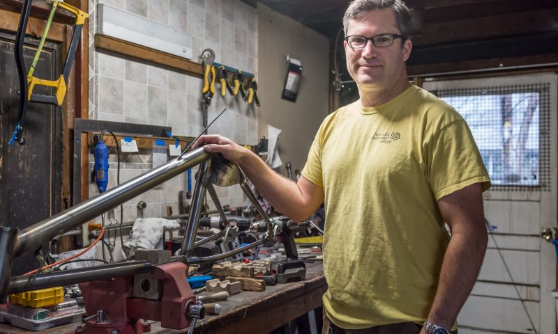 John Koutrouba of Sixth Law Cycles. Photo by ColtonMarsalaPhotography.com