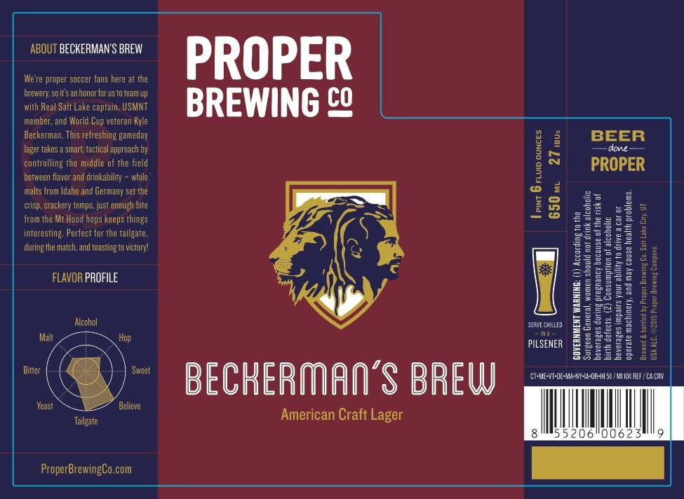 Beer of the Month: Beckerman's Brew