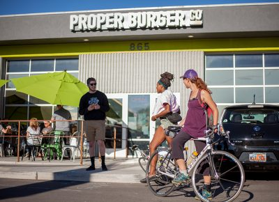 Collecting points at Proper Burger Co. Photo: @ca_visual