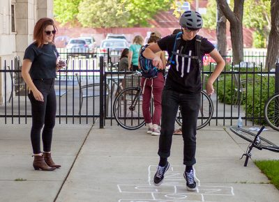 Playing hopscotch for points at the Rio Grand Cafe. Photo: @ca_visual