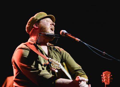Dylan Walshe of Dublin, Ireland, singing a few Irish style ballads with some acoustic guitar. Photo: Lmsorenson.net