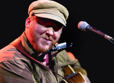 Dylan Walshe's cheeky lyrics and upbeat folky songs were a hit in SLC. Photo: Lmsorenson.net