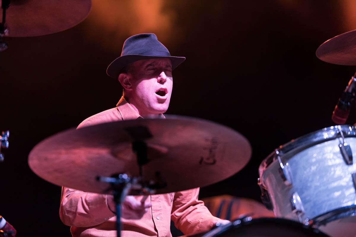 White Buffalo drummer Matt Lynott getting into the set. Photo: Lmsorenson.net