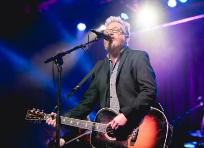 Dave King of Flogging Molly singing about he is a selfish man. Photo: Lmsorenson.net