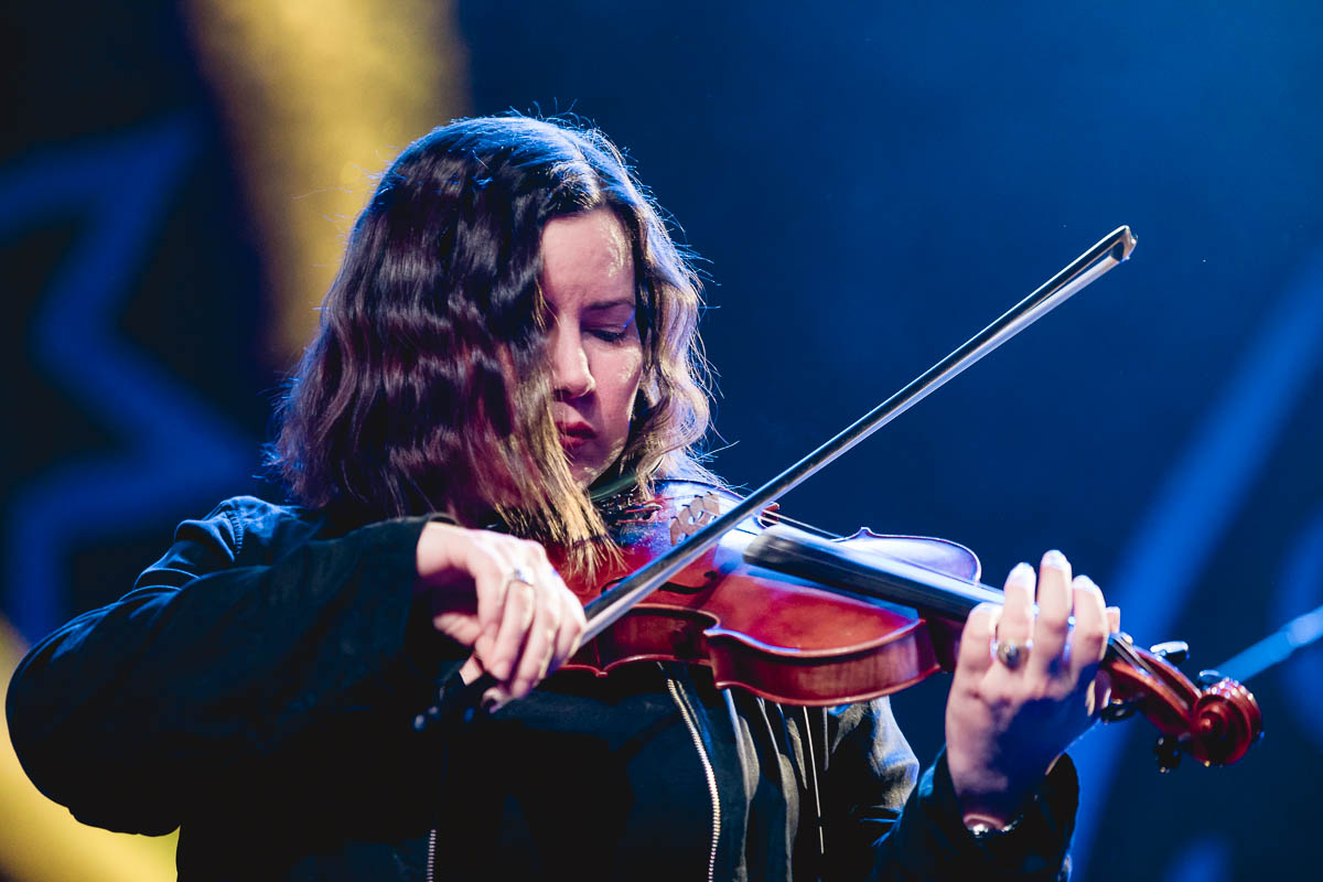 Fiddle player Bridget Regan—an absolute essential piece of the large ensemble that is Flogging Molly. Photo: Lmsorenson.net
