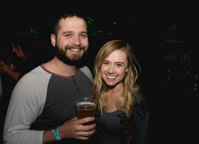 """Ryan and Caddee grabbing a beer before the show. Favorite Flogging Molly music: """"Actually we're here for White Buffalo!"""" Photo: Lmsorenson.net"""