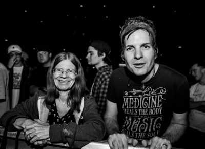 Melaine and Mike excited to see Me First and the Gimme Gimmes. Photo: Gilbert Cisneros