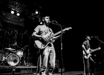 Los Angeles–based band together PANGEA played second. Photo: Gilbert Cisneros
